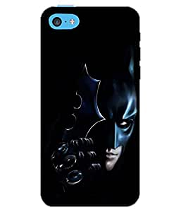 PrintDhaba BAT SHADOW D-6589 Back Case Cover for APPLE IPHONE 5C (Multi-Coloured)