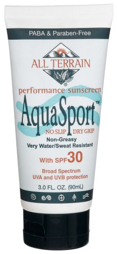 All-Terrain Aqua Sport Performance Sunscreen Very Water/Sweat Resistant SPF 30, 3-Ounces  (Pack of 2)