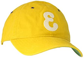 Blue Marlin Men's Classic Newark Eagles Fitted Hat, Yellow, Medium/Large