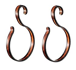 Mabalo Set of 2 Plastic Curvy Single Loop Hanger - Color Brown