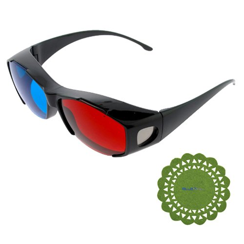 GTMax Black Cover 3D Red/Cyan Glasses for watching