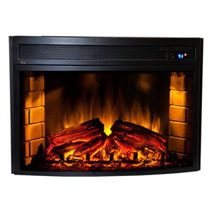 Comfort Smart Verve 24 In Curved Electric Insert Cs 501625 Lowes Electric Fireplace