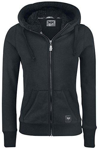 Black Premium by EMP Teddy Hooded Jacket Felpa jogging donna nero L