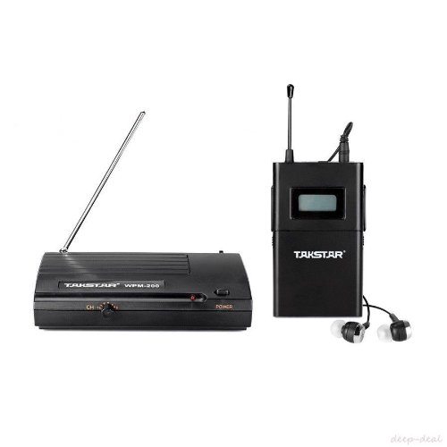 Deepdeal Wpm-200 Wpm-100 Uhf Wireless Monitor System In-Ear Stereo Wireless Headphones