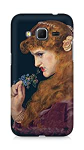 Amez designer printed 3d premium high quality back case cover for Samsung Galaxy Core Prime (Painting of girl)