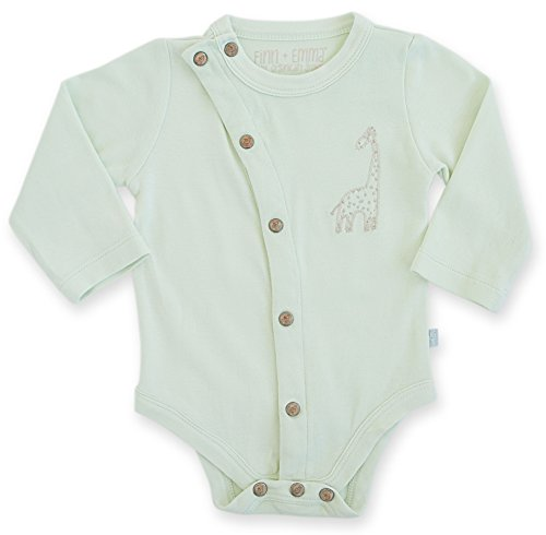 Finn + Emma Baby Neutral Organic Cotton Long Sleeve Bodysuit 12-18m - Light Green