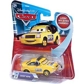Disney/Pixar Cars, Lenticular Eyes Series 2, Chief RPM Die-Cast Vehicle #77, 1:55 Scale
