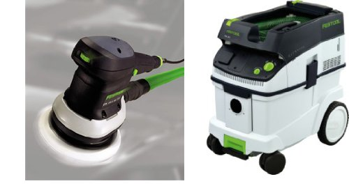 "6"" Festool sander and vacuum"
