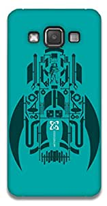 The Racoon Grip printed designer hard back mobile phone case cover for Samsung Galaxy A3. (rocket)