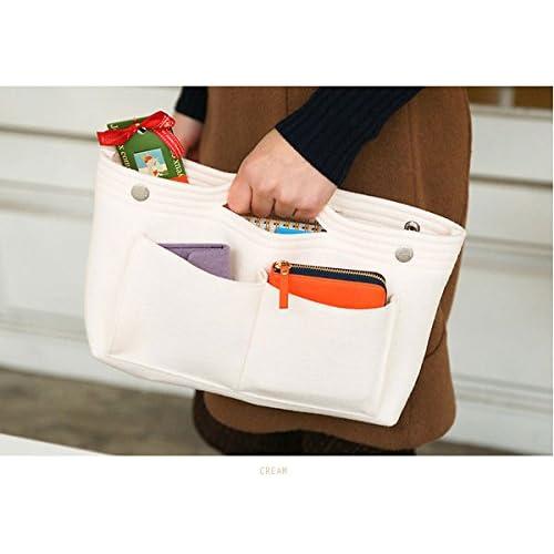 [正規品][invite.L] Felt Bag in bag - フェルト バッグインバッグ bag in bag series 収納バッグ(クリーム)
