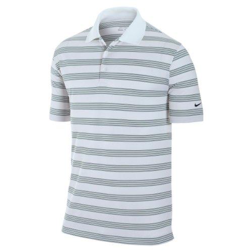 Nike Golf Tech Core Stripe Polo Shirt / Mens Golfwear (M) (White)
