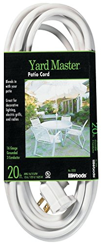 Coleman Cable 992222 2 Pack 20ft. Outdoor Garden Extension Cord, White (Coleman Spa Chemicals compare prices)