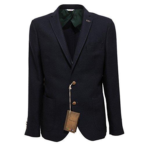 1736Q giacca MANUEL RITZ blu/verde giacca uomo jacket coat men [54]