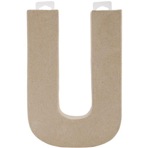 "Paper Mache Letter 8""X5-1/2""-Letter U"