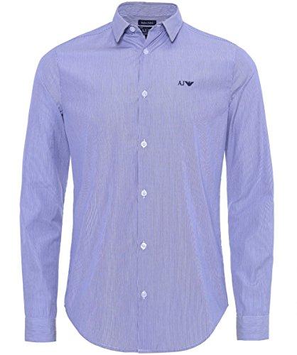 Armani Jeans Men's Camicia a righe vestibilità slim Marina L