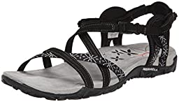 Merrell Women\'s Terran Lattice Sandal,Black,10 M US