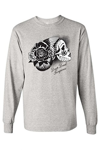 Unisex Day Of The Dead Sugar Skull Long Sleeve T-shirt