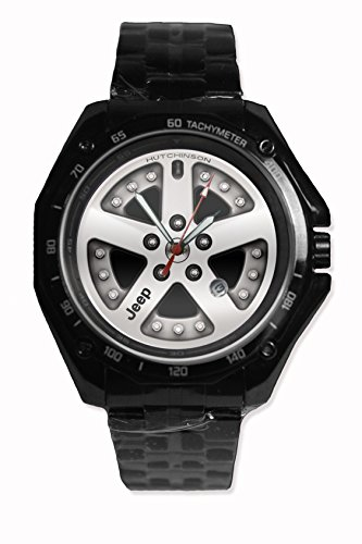 Design Jeep Rim Velg Silver Color Custom Snap On Black New Sport Stainless-Steel Wristwatch