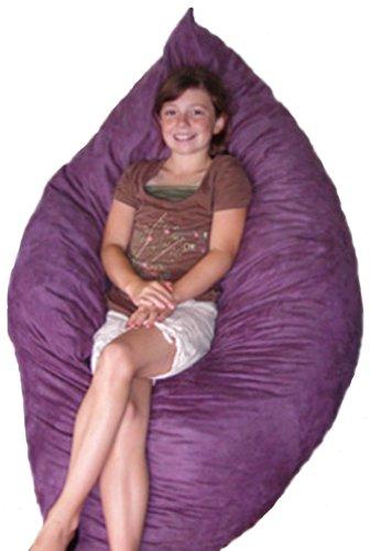 The Hug Chair - Pillow Bean Bag - Sea Blue Microfiber, Child Firmness