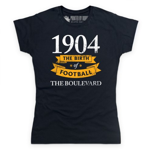 Hull City - Birth of Football T Shirt, Ladies, Black, Small