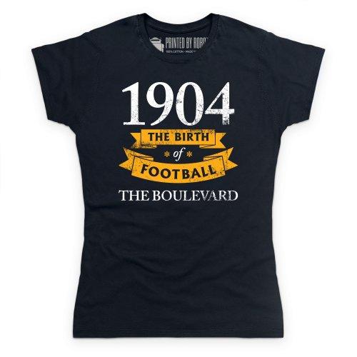 Hull City - Birth of Football T Shirt, Ladies, Black, Small