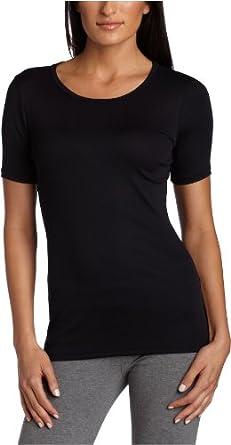 Karen Kane Women's Stretch Rib Short Sleeve T-Shirt,Black,X-Small