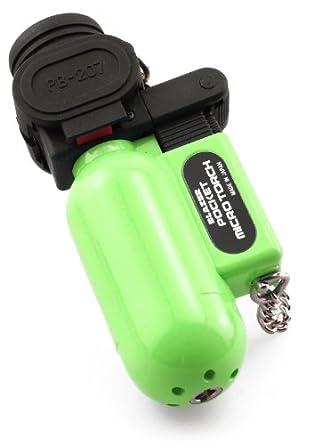 Blazer PB207CR The Torch Butane Refillable Lighter, Lime Green