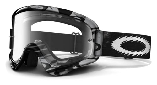 Oakley O-Frame MX Grey/Black Storm Goggles with Clear Lens