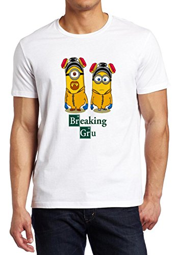 Minion Breaking Bad Funny Movie Fan minions tee Custom Made T-shirt (L)