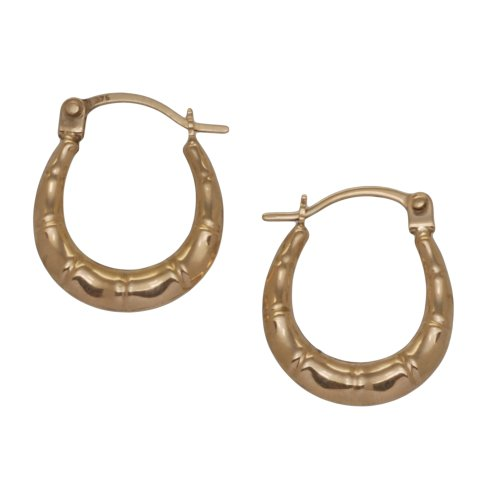 9ct Yellow Gold Small Groove Creole Earrings