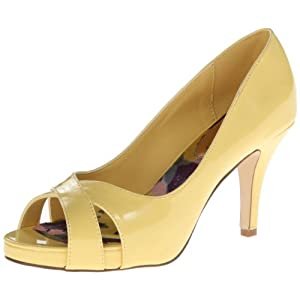 Madden Girl Women's Gertiee Platform Pump,Yellow Patent,6 M US