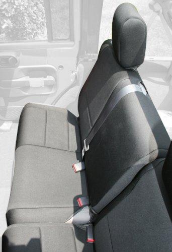 Rugged Ridge 13264.01 Black Custom Neoprene Rear Seat Cover front-889791