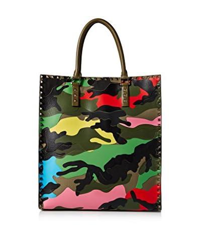 Valentino Men's Bright Camouflage Shopper Tote, Multicolor