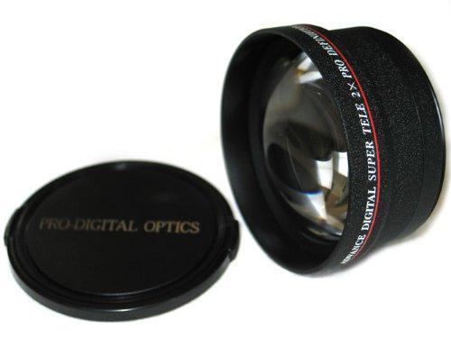 Bower Hi-Def 2X Telephoto Conversion Lens 72Mm For Digital/Film Cameras In Black Color