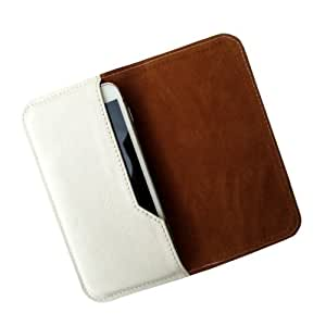 i-KitPit : PU Leather Flip Pouch Case Cover For Panasonic T11 (WHITE)