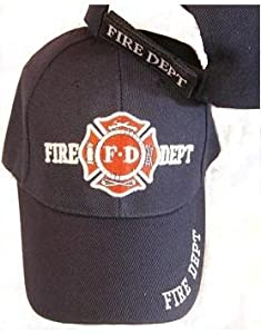 Navy Blue Fd Fire Department Hat Dept Firemen Fdny Ball Baseball Cap