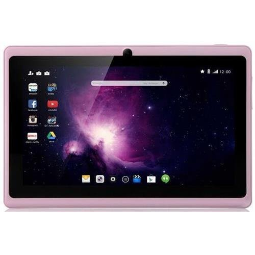 Dragon Be in the same league Y88X Plus 7'' Quad Core Google Android 4.4 KitKat Tablet PC, IPS Display, HD Screen 1024 x 600, 8 GB, Bluetooth, Dual Camera, Netflix, Skype, 3D Tactic Supported - Rose Pink
