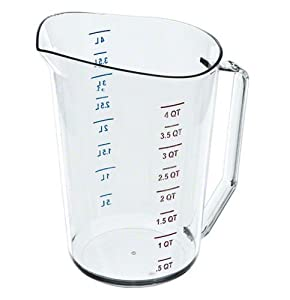Cambro 400MCCW 4 qt Capacity Camwear Clear Polycarbonate Liquid Measuring Cup by Cambro