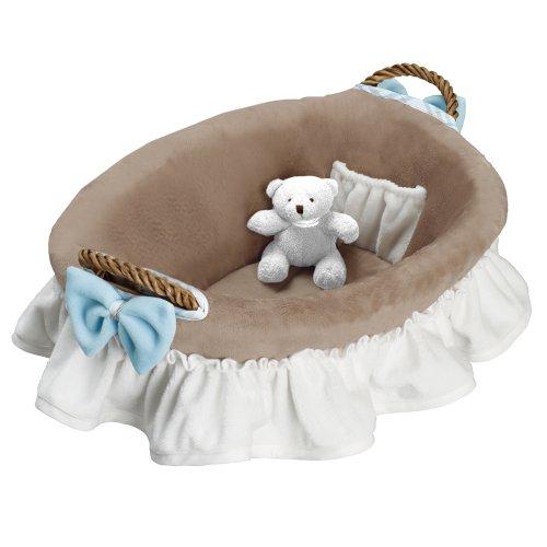 Utensilios De Baño Para Bebe: de peluche para utensilios de baño de bebé, color blanco, azul y