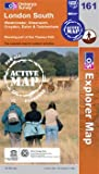 London South, Westminster, Greenwich, Croydon, Esher & Twickenham OS Explorer Map Active 161