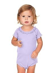 Kavio! Infants Sunflower Short Sleeve Onesie Lavender 18M