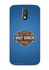 MiiCreations 3D Printed Back Cover for Motorola Moto G4 Plus,Harley Davidson