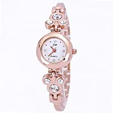 buy Sunshine Day Women Dress Ladies Watch With Rhinestones Brand Luxury Mickey Design Bracelet Rose Gold Plated Round Dial Clock