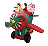 6-Foot-Animated-Christmas-Inflatable-Santa-Claus-and-Reindeer-on-Helicopter-Yard-Decoration
