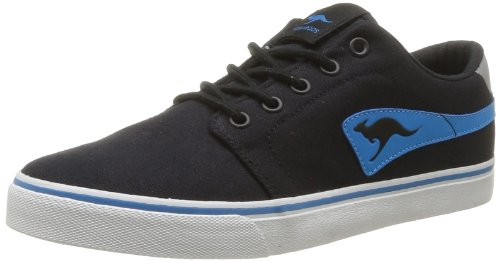 KangaROOS Unisex - Adult Jeffrey Canvas Trainers Black Schwarz (black/blue 544) Size: 47