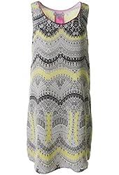Charlie Jade Womens Silk Printed Tank Dress