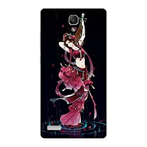 Stylish Princess Pose Back Case Cover for Redmi Note