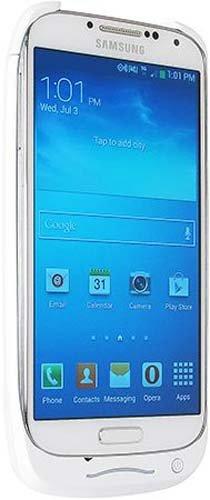 C&E Cne03051 3000Mah Power Case For Samsung Galaxy S4 - Retail Packaging - White