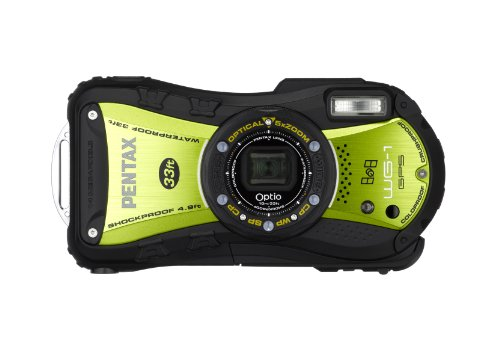 PENTAX Optio WG-1 GPS 14 MP Rugged Waterproof Digital Camera with 5X Optical Zoom, 2.7-inch LCD and GPS Funtionality (Green )