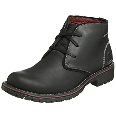 (超帅)其乐Clarks Men's Roar Boot 型男真皮中帮靴 黑,$87.68